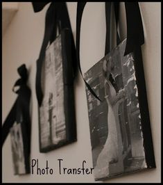 Tutorial for transferring a photo onto canvas.  Perfect for wedding photos.