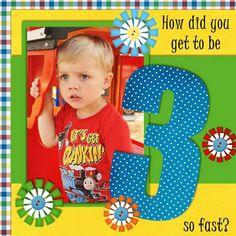 Scrapbook Layout - 3 years old Baby Boy Scrapbook, Birthday Scrapbook Layouts, Baby Scrapbook Pages, Scrapbook Sketches, Scrapbook Page Layouts, Scrapbook Supplies, Scrapbook Cards, Scrapbooking Ideas, Scrapbook Organization