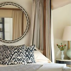 Madeline Weinrib Black Luce Ikat Pillows, interior design by Jennifer McGee