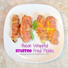 Bacon Wrapped Stuffed Fried Pickles, a recipe from Seduction in the Kitchen