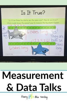 These first grade measurement math talk activities are common core aligned. They are perfect for helping first graders think critically about measurement. First Grade Measurement, Teaching Measurement, Math Fact Practice, Math Talk, First Grade Teachers, First Grade Math, Math Lesson Plans, Math Lessons, Math Fact Fluency