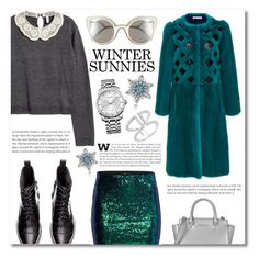 """""""Winter sunnies"""" by dolly-valkyrie ❤ liked on Polyvore featuring Oscar de la Renta, H&M, Fendi, Calvin Klein, Pandora, Michael Kors and wintersunnies"""