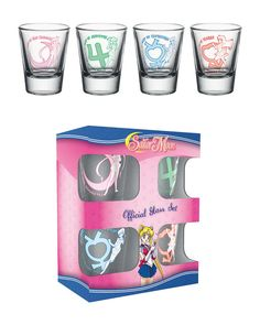 Sailor Moon Schnapsgläser 4er-Pack - Sailor Merkur - Sailor Mars  Sailor Jupiter