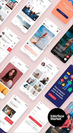 Design professional social media or messaging app easier with Miami Social App UI Kit, 40 beautiful UI design screen templates with the basic UI elements. #ui #ux #design #template #templates #inspiration #app #apps #iphone #sketch #simple #mobile #ios #interface #interfaces #ideas #adobexd #figma #layout #business #startup #livetv #chat #messaging #message #text #sms #call #video #group #friendship #friends #dating #livestreaming #social #animation #uianimation #appanimation