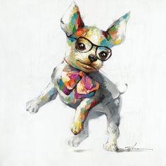 Found it at AllModern - Pup Painting Print on Canvas http://www.allmodern.com/deals-and-design-ideas/p/Animal-Instincts-Pup-Painting-Print-on-Canvas~QHC2503~E18366.html?refid=SBP.rBAZEVT6RRkHwl-UKqs_AuVwzuPbDUinkGSBi-L0NZc