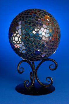 Gazing Ball Garden Art Premium Van Gogh glass by EnchantedMosaics, $175.00