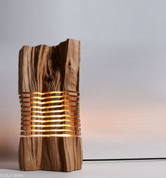 Bring The Outdoors Inside With These Gorgeous Lamps Made From Real Firewood