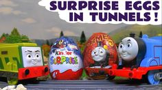 Thomas and Friends Toy Trains Surprise Eggs opened by Superheroes Toys S...