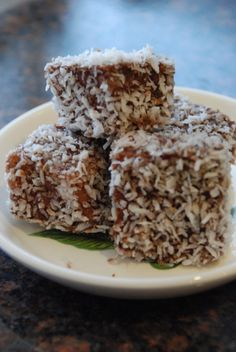 Bosnian lamingtons or cupavci are made with sponge cake, custard, chocolate and coconut.