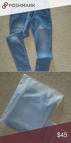 Blue high waist jeans Very comfortable fitted high waist long slim jeans Unmarked Style Jeans