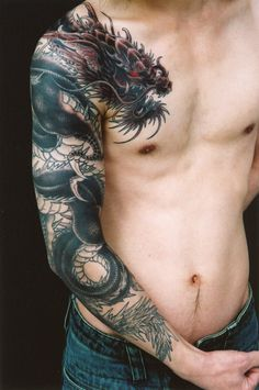 Dragon tattoos for men can symbolize greed, power, duality, intellect…