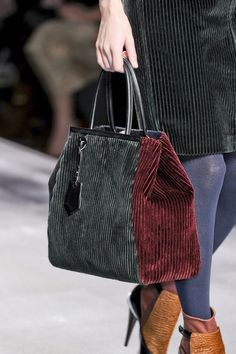 okay...a large corduroy bag with different colors and weights...what a great looking bag!