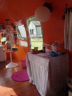 The WonderCraft's Airstream trailer craft boutique.