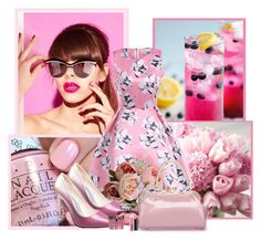 """""""Win $20 Cash from Rosegal!"""" by rfultrastars ❤ liked on Polyvore featuring Gucci, MAC Cosmetics, vintage, Pink and PinkDress"""