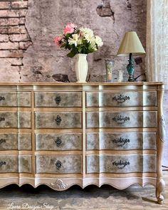 Diy Dresser Makeover, Furniture Makeover, Diy Furniture, Bohemian Furniture, Shabby Chic Furniture, Metallic Painted Furniture, Farmhouse Furniture, Home Projects, Diy Home Decor