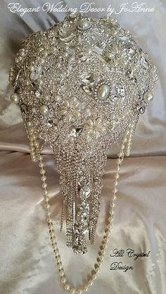 GORGEOUS Full Bridal Brooch Bouquet  by Elegantweddingdecor