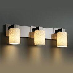 Justice Design Group Limoges Modular 3 Light Vanity Light Impression: Sawtooth, Finish: Brushed Nickel