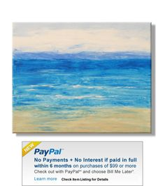 Huge Abstract Ocean Seascape. Original Handpainted Acrylic Thick 3d Texture Impasto Palette Knife Painting. Size 24 x 30