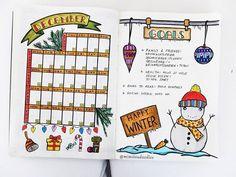 My December monthly 😊💕💙⛄🎄🎀 . . . . . .  #bulletjournal #planner #bujo  #planwithmechallenge