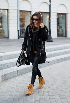 Julietta Kuczyńskawears a pair of Timberlands in... - Street Style