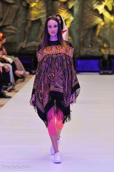 Dress made from Russian shawl called Samarkand #russian #shawl