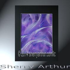 Abstract  Purple Blue White Swirls Original by sherryarthur
