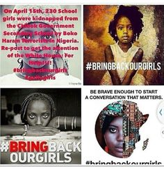 Bring Our Girls Nigerian girls were kidnapped and still missing. Bring Back Our Girls, Bring It On, Nigerian Girls, Nigerian Government, Find Your Friends, Boko Haram, Girl Back, News Around The World, Black Image
