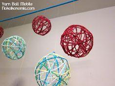 nokoikonomia: Nursery: Yarn Ball Mobile