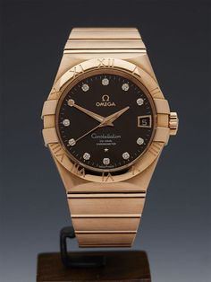 OMEGA CONSTELLATION 18K ROSE GOLD Watch - http://menswomenswatches.com/omega-constellation-18k-rose-gold-watch/ COMMENT.
