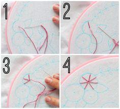 flower hand embroidery starting making jiggy