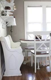 dining table with church pew - Google Search