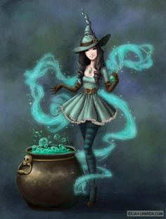 Paganism isn't about witches like this, but I sure do like them.