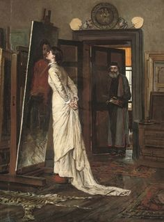 The artist's studio by Charles Napier Kennedy