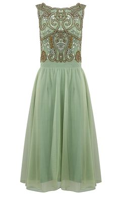 If you want a glamorous look as a wedding guest, this stunning green dress from Pretty Eccentric (£149) should be a winner for you