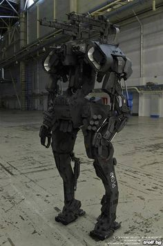 "mylittlerewolution: DARPA Building Real Life Terminator 'Military Robots' - The U.S. military is working on a new generation of soldiers, far different from the army it now has. ""They don't get hungry,"" said Gordon Johnson of the Pentagon's Joint Forces Command. ""They're not afraid. They don't forget their orders. They don't care if the guy next to them has just been shot. Will they do a better job than humans? Yes."" Robotic Soldiers without a conscience - anyone else feeling a chill go down…"