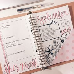 """the-girlygeek: """" I feel like this isn't too shabby for my first 'proper' month of bullet journaling. Just looking at it makes me feel happy :))) """""""