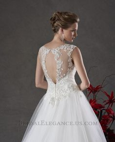 Sheer Tulle & Lace Gown | Wedding Dress | Bridal Elegance