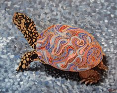 Original Painting  Perseverence the Turtle by rachelledyer on Etsy, $65.00