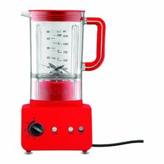 Bodum 11303-294US Bistro 5-Speed Electric Blender, 42-Ounce, Red 5-speed with pulse action on every speed. Powerful 500 watt motor. Durable bpa-free eastman tritan plastic container. Flat bottom prevents contents getting stuck below blade. Suction cup feet make a stable connection to the kitchen countertop.  #Bodum #Kitchen