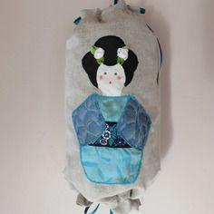 sac à sacs japonaise turquoise