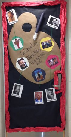 Black History Door. African American artist  Make themed door display each quarter?