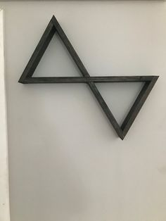 Floating Double Triangle Shelf by CleverMothCreations on Etsy