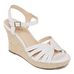 8dd963a40e182 Liz Claiborne Womens Magenta Wedge Sandals