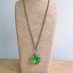 Vintage Apple Green Swarovski Statement Necklace – Laura James Jewelry