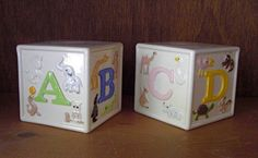 SALE Vintage Child Baby Animal Alphabet Block by twomarchhares, $15.50