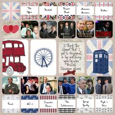 I like to watch British television shows! Digital Scrapbook Template from Scrumptiously and England Bundle from Pixelscrapper