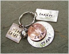 Personalized TEACHER GIFTS Apple Charm Mixed Metal by DreamNColor, $28.00- necklace?