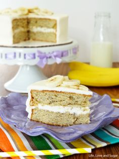 Soft and Moist Banana Cake.  now this is important for the best results, make sure the bananas are really ripe and you will reap the rewards