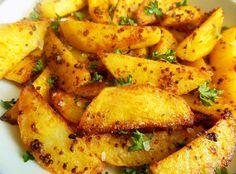 Deliciosii Cartofi la cuptor cu mustar unt si suc de lamaie sunt perfecti pentru o cina copioasa, ce se prepara foarte