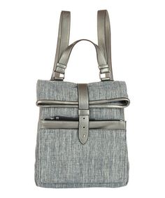 Another great find on #zulily! Linen & Silver-Trim Fold-Over Backpack #zulilyfinds